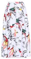 Erdem Elena printed cotton skirt