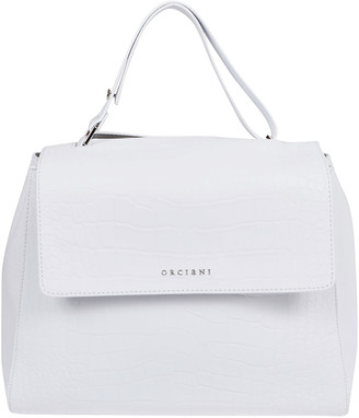 Orciani White Leather Bag