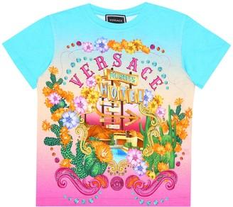 Versace Kids Printed cotton T-shirt