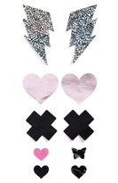 Women's Nippies By Bristols Six Bolt, Heart & Cross Nipple Covers