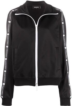 DSQUARED2 Logo-Embellished Zip Jacket
