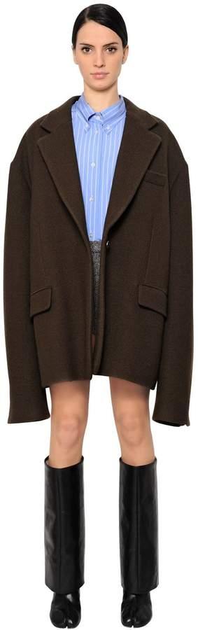 Maison Margiela Oversized Wool Blend Coat