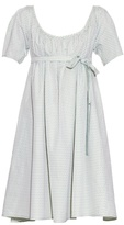 Thierry Colson Plum short-sleeved cotton wrap dress