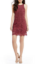 WAYF Randy Sleeveless Lace Mini Dress