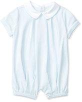 Ralph Lauren Pleated Pima Jersey Shortall, Blue, Size 3-18 Months