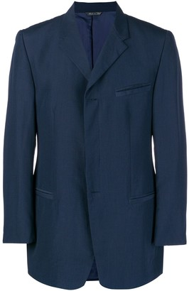 Versace Pre-Owned classic lapels straight blazer
