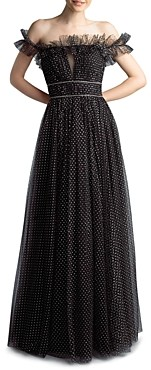 Basix II Metallic Dot Tulle Dress