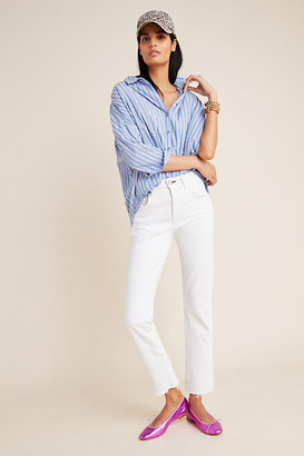 Amo Babe High-Rise Slim Straight Jeans By in White Size 31