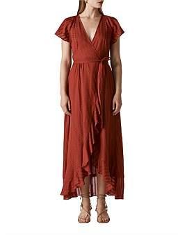 Whistles Nolita Wrap Maxi Dress