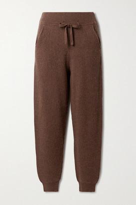 Rag & Bone Pierce Ribbed Cashmere Track Pants - Chocolate