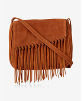 Express genuine knotted frnge cross body bag