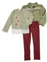 Nannette Butterfly Top, Jacket and Leggings Set