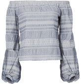 Exclusive for Intermix Arielle Embroidered Off Shoulder Top