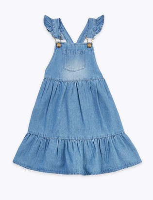 Marks and Spencer Cotton Denim Pinafore Dress (2-7 Years)