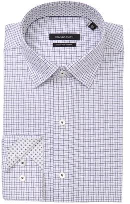 Bugatchi Patterned Long Sleeve Slim Fit Shirt