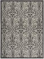 Garden Party Indoor/Outdoor Area Rug - Ivory/Charcoal
