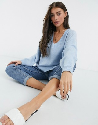 M Lounge relaxed v-neck sweater
