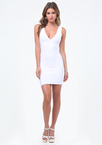 Bebe Double V Bandage Dress