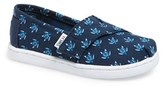 Toms Infant Boy's 'Classic - Blue Turtle' Slip-On