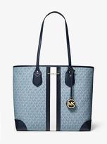 Michael Kors Eva Large Logo Stripe Tote Bag