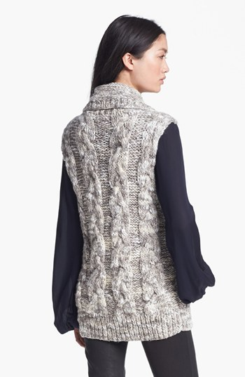 L'Agence Marble Knit Sweater Vest