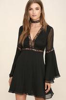 LuLu*s Spell Check Black Lace Long Sleeve Dress