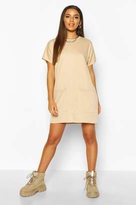 boohoo Pocket Front Shift Dress