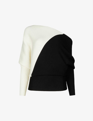 Reiss Lucy colour-blocked knitted jumper
