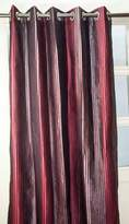 "Silk n Drapes and More Rib striped 3 tone faux silk grommet/eyelet curtain panel (52""W X 84""L)"