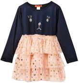 Funkyberry Kitty Dress (Toddler & Little Girls)