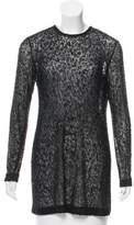 Donna Karan Long Sleeve Embellished Tunic