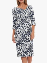 Thumbnail for your product : Gina Bacconi Hayla Floral Knee Length Dress, Navy/White