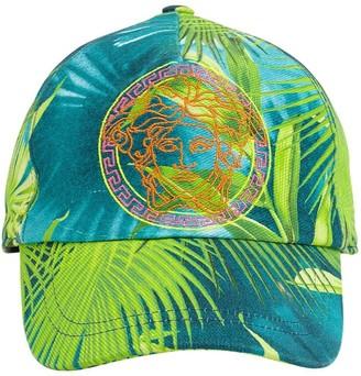 Versace Jungle Print Cotton Baseball Hat