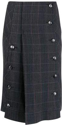 Chloé checked pleated skirt