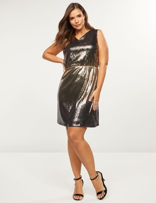Lane Bryant Ombre Sequin Fit & Flare Dress