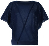 Vanessa Bruno perforated knitted top - women - Cashmere/Wool - L