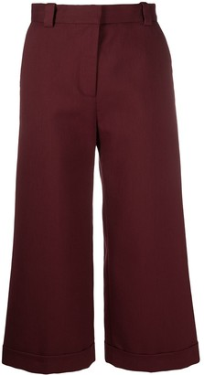 See by Chloe Cropped Wide-Leg Trousers