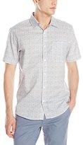 Sovereign Code Men's Fauna Short Sleeves - Allover Print Floral Button-Up Shirt