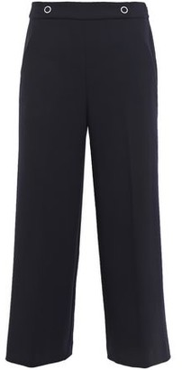 Elie Tahari Juno Cropped Stretch-twill Wide-leg Pants