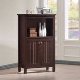 Baxton Studio Cyclo Modern and Contemporary Dark Brown Sideboard Storage Cabinet with Two Doors