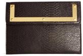 Asos Croc Clutch Bag With Metal Frame - Black