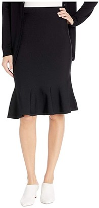 MICHAEL Michael Kors Solid Jersey Flare Skirt (Black) Women's Skirt