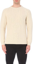 Alexander McQueen Skull-embroidered wool and cashmere-blend jumper