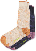 Robert Graham Two-Pair Paisley Socks Set, Multi