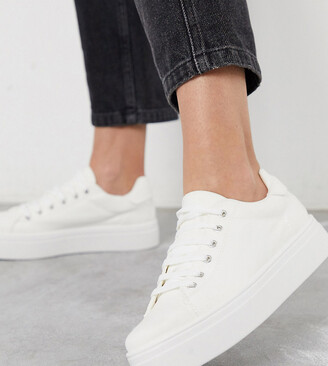 Asos DESIGN Wide Fit Day Light chunky flatform Lace Up Sneakers