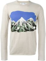 Comme des Garcons mountain intarsia jumper - men - Cotton/Acrylic/Wool - L