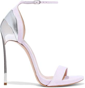 Casadei Suede And Metallic Leather Sandals