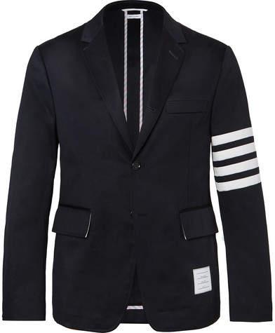 68c42ce21d60 Mens Cotton Navy Blue Blazer - ShopStyle Canada