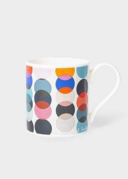 'Polka Dot' Print Bone China Mug