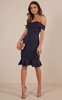 Showpo Take My Number Dress in navy - 6 (XS) Dresses